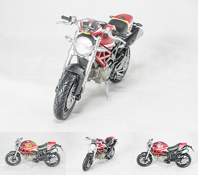 NewRay 1:12 Die Cast Ducati Monster 796 (No. 46 / 69) Motorcycle Red Color Model
