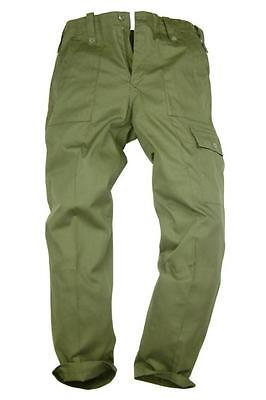 Lightweight Combat Trousers ~ British Army Issue Olive Green ~ With Leg Pocket