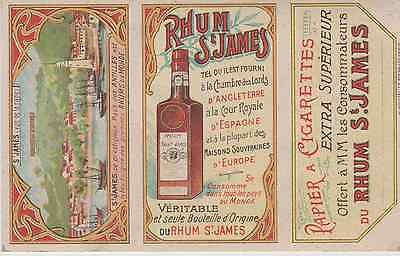 """RHUM St JAMES"" Etiquette-chromo originale fin 1800"