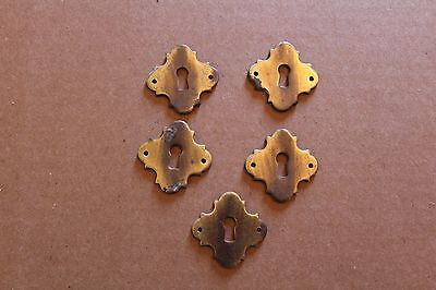 Lot Of 5 Matching Antique  Key Hole Cover Escutcheons , Furniture Parts