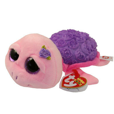 "Ty Beanie Boos 7"" Rosie The Purple Rose Turtle"