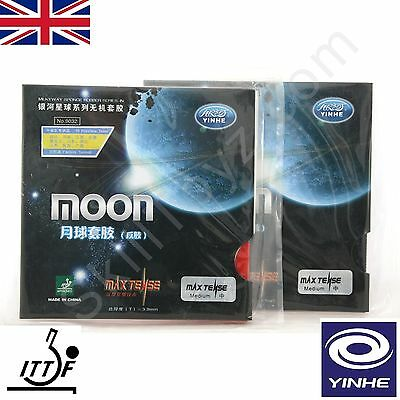 2 x Yinhe (Galaxy) Moon Max Tense Table Tennis Rubbers UK Seller CHOOSE HARDNESS