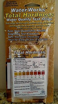 Total Hardness Water Test Strips  30ct Pool Spa Drinking Tap Well