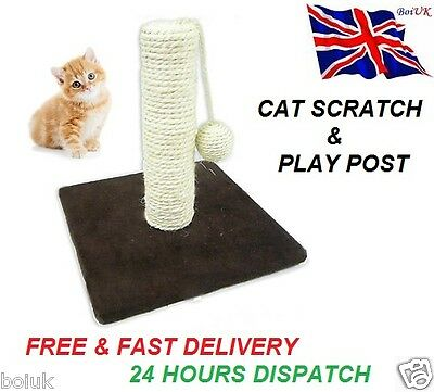 Cat Scratch Play Post Activity Pole Centre Climbing Play Sisal Scratcher Toy New