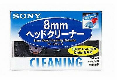 SONY Japan V8-25CLD Hi8/Digital8/8mm Video Head Cleaning Cassette