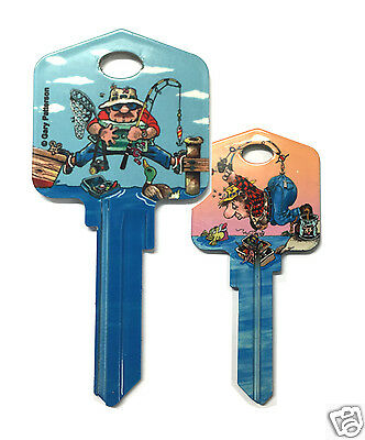 FISHING & THE GREAT OUTDOORS - FRONT DOOR HOUSE KEY BLANK - LW4 C4 - Great Gift