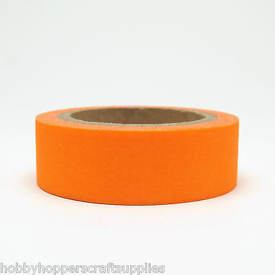 Washi Tape Orange Neon 15mm x 10m
