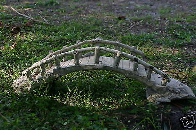 Antique Faux Bois Bridge Early 1900's Signed Stonewood Weighs A Heavy 38 Pounds!