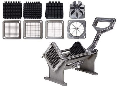 Potato French Fry Fruit Vegetable Commercial Cutter Slicer Cutting W/4 Blades AW