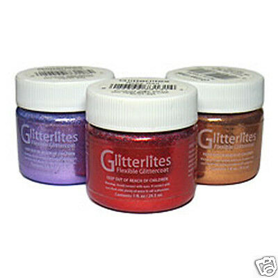 ANGULUS GLITTERLITES SPARKLE PAINT -FOR LEATHER & SYNTHETIC 18 Colors !!!