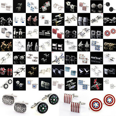 Vintage Novelty Classic Wholesale Silver Cufflinks Cuff Links Stainless Steel