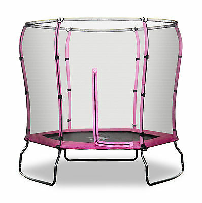 Rebo 7FT Trampoline the Safe Jump With HALO Safety Enclosure - 2 Colours