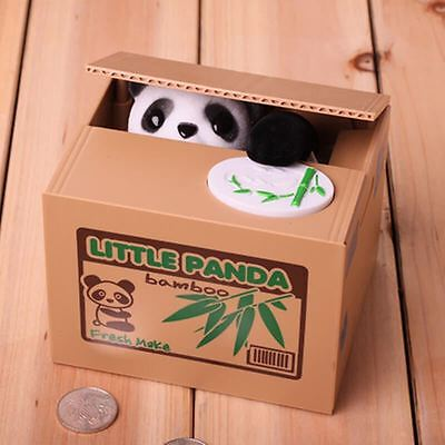 Novelty Cute Panda Coin Stealing Money Box Piggy Bank