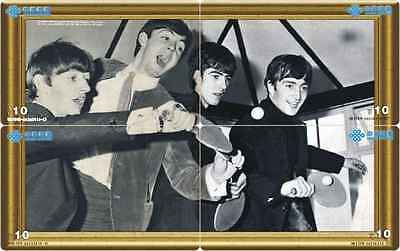 S04203 China phone cards The Beatles Table Tennis 4pcs