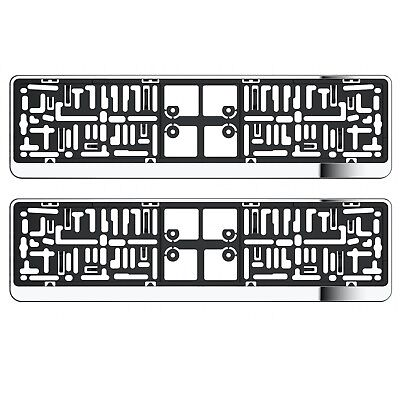 2X Chrome Number Plate Holder Surrounds For Volvo With Uk Standard Plates