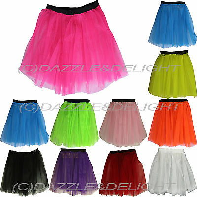 Neon Tutu Skirt 80'S Fancy Dress Tutu Hen Party 80'S Party Mesh Tutu All Colours
