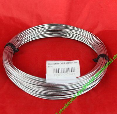 ROLLO 25mts CABLE ACERO 1.5mm 6x7+1	33000006 AM