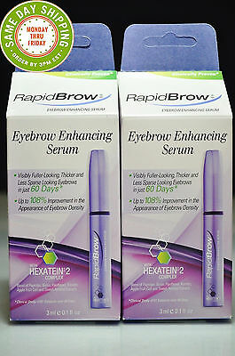 LOT OF 2 Rapidbrow Eye Brow Enhancing Serum 3ml  Each NewSEALED Fast Shipping