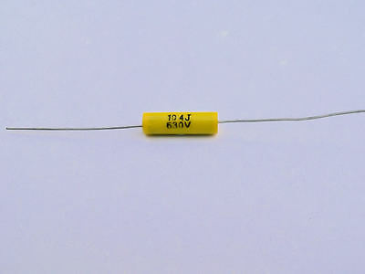 0.1uF 100nF 630V Axial Audio Capacitors 5 pcs for Valve Amplifiers UK STOCK