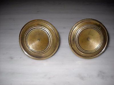 Pair of Greece Vintage Solid Brass Door Knobs Handles Push/Pull #3
