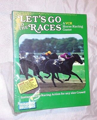 Vintage LET'S GO TO THE RACES Game PARKER BROTHERS 1987 VCR Horse Racing NEW