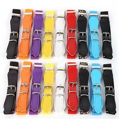 Childrens Kids Boys Girls Candy Colors Wide Elastic Waist Belt Strap Waistband