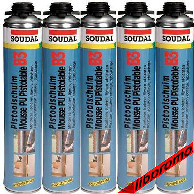 Lot de 5 Mousses expansive pu pistolable, soudafoam 700ml (5902393)
