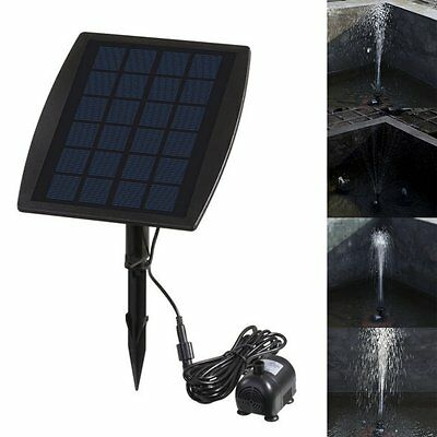 Solar Power Submersible Fountain Pond Water Pump Panel Kit Garden Pool Watering