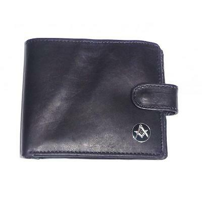 Masonic Leather Wallet With G Freemason Mason Square and Compasses Present Gift