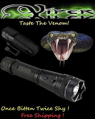 Viper 120 MILLION Volt Self Defense Stun Gun LED Light, free Tazer holster