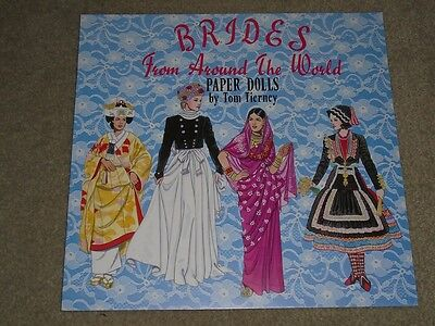 Brides From Around The World Paper Dolls Book 1995 Uncut Book Unused Tom Tierney