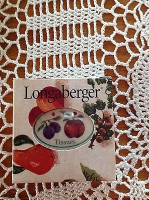 Longaberger Fruit Medley Tissues Tie On