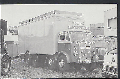 Motor Transport Postcard - A.Whitelegg's 1952 ERF RNW 88 Lorry  MB1976