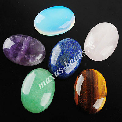 Natural Gem Stones Oval Cabochon CAB No Drill Hole 18x25mm Jewelry Making MBN206