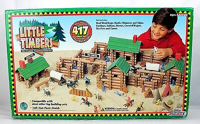 Little Timbers Wood Log Building Set - 417 Pieces - Little Jimmy 1995