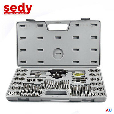 NEW 60PC QUALITY ALLOY METRIC IMPERIAL TAP & DIE SET Thread Taper Drill Tool KIT