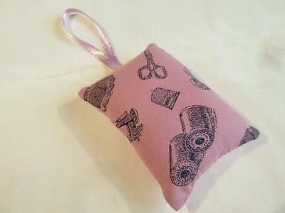 HANDMADE DECORATIVE PADDED PIN CUSHION - SEWING NOTIONS  - 9cms x 6.5cms......11