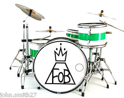 Miniature Drums Andy Hurley Fall Out Boy FOB Logo Awesome