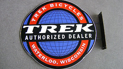 Trek Bicycles Authorized Dealer Waterloo Wisconsin double sided sign very nice