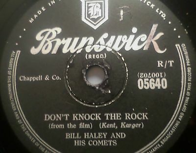"""BILL HALEY & HIS COMETS """"Don't Knock The Rock / Calling All Comets"""" Brunswick"""