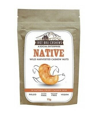 East Bali Cashews Native Cashew Nuts 75g