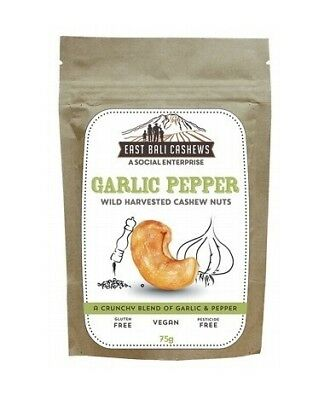 East Bali Cashews Garlic Pepper Cashew Nuts 65g