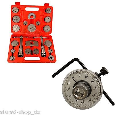Brake Piston Reset Tool 21 Pieces Rotation Angle Measuring Instrument 0-360°