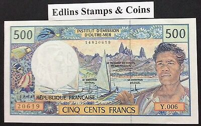 1977 New Caledonia 500 francs circulated condition Y.006 20619