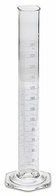 Corning Pyrex® #3024 Single Metric Scale, Glass Graduated Cylinder, 250ml, Each