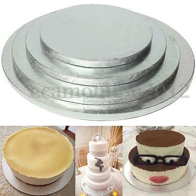 Cake Drum Board Silver Round 8 10 12 14 inch Stand Holder Base Wedding Birthday