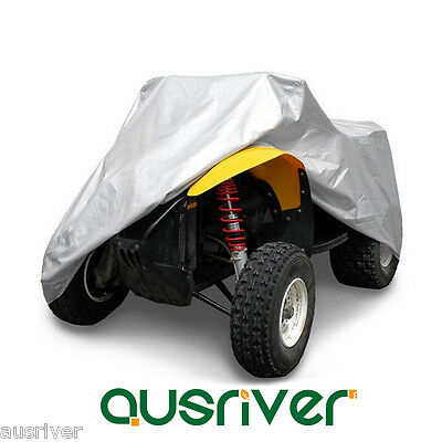 Waterproof Quad Bike ATV Cover Fits Yamaha Polaris Suzuki Honda M 145x85x98cm