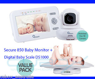 """Oricom Secure 850 4.3"""" Wireless Video 2.4GHZ Baby Monitor + Digital Scale DS1000"""