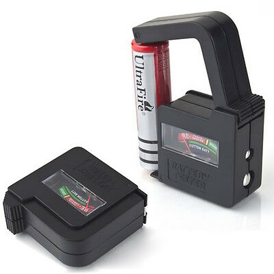 Universal 9V AA AAA 1.5V Button Cell Battery Volt Tester Checker Indicator