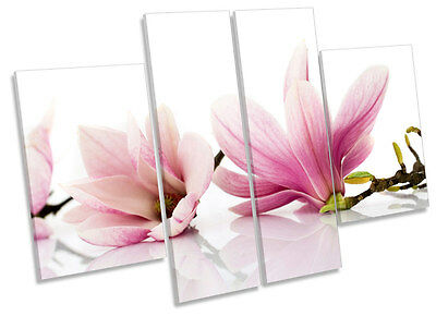Floral Flowers Magnolia CANVAS WALL ART MULTI Panel Print Box Frame